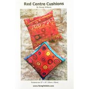 Red Centre Cushions Pattern by Wendy Williams by Wendy Williams of Flying FIsh Kits - Wendy Williams