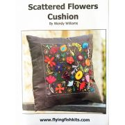 Scattered Flowers Cushion Pattern by Wendy Williams by Wendy Williams of Flying FIsh Kits - Wendy Williams