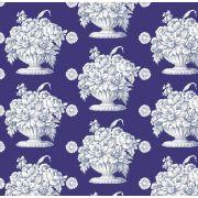 Kaffe Fassett  Royal Blue Stone Flower Quilt Backing 2.74m x 2.74metres (Queen Size) by The Kaffe Fassett Collective - Stone Flower Quilt Backing