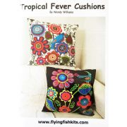 Tropical Fever Cushion Pattern by Wendy Williams by Wendy Williams of Flying FIsh Kits - Wendy Williams