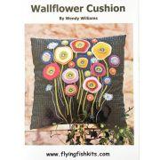 Wallflower Cushion Pattern by Wendy Williams by Wendy Williams of Flying FIsh Kits - Wendy Williams