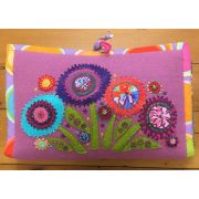 Woolly Zip It Bag Elephant/Flowers Pattern by Wendy Williams by Wendy Williams of Flying FIsh Kits - Storage & Accessories