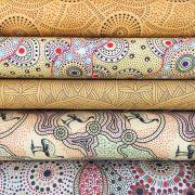 Aboriginal Art Fabric 20 Fat Quarter Bundle DD by M & S Textiles Fat Quarter Packs - OzQuilts