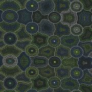 Akuna Dreaming Green by Agnes Rubuntja by M & S Textiles - Cut from the Bolt