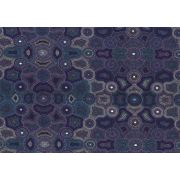 Akuna Dreaming Purple by Agnes Rubuntja by M & S Textiles - Cut from the Bolt
