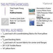 Beginner Rotary Cutter Pillow Pattern, by Zellner, Debra by Cut Loose Press Patterns - Cut Loose Press Patterns