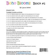 BOHO Blooms Block #1 Collage Pattern by Laura Heine by Fiberworks - Collage