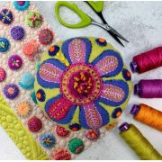 Flower Pincushion Kit by Sue Spargo (Includes Pattern) by Sue Spargo - Kits