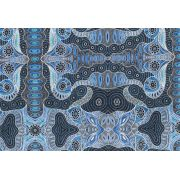 Regeneration Blue by Heather Kennedy by M & S Textiles - Cut from the Bolt