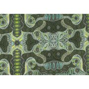 Regeneration Green by Heather Kennedy by M & S Textiles - Cut from the Bolt