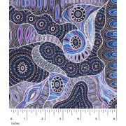 Regeneration Purple by Heather Kennedy by M & S Textiles - Cut from the Bolt