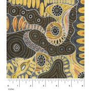 Regeneration Yellow by Heather Kennedy by M & S Textiles - Cut from the Bolt