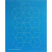 Sashiko Stitch Block A4 Stencil by Hancy Full Line Stencils - Pounce Pads & Quilt Stencils