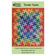 Twister Fusion Pattern by Lisa Amundson by Twister Sisters Designs - Quilt Patterns