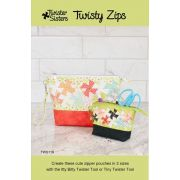 Twisty Zips Pouches Pattern by Lisa Amundson by Twister Sisters Designs - Bag Patterns