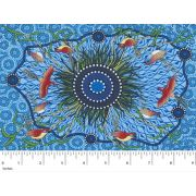 Yeerung Blue by Nambooka by M & S Textiles - Cut from the Bolt