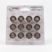 DecoBob Bobbins Size L - Brown/Grey by Wonderfil Decobob Cottonised Poly - Bobbins Size L