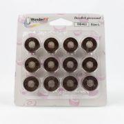 DecoBob Bobbins Size L - Brown by Wonderfil Decobob Cottonised Poly - Bobbins Size L