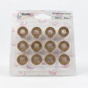 DecoBob Bobbins Size L - Soft Tan by Wonderfil Decobob Cottonised Poly - Bobbins Size L