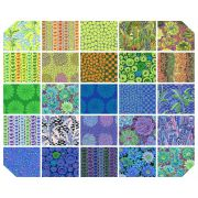 Kaffe Fassett Collective Classics - February 2021 Collection Cool - 25  Fat Quarters by The Kaffe Fassett Collective - Fat Quarter Packs