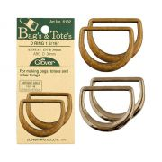 Clover 20mm D Ring Antique Gold by Clover - Hardware for Bags