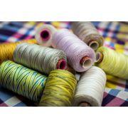 Wonderfil Fruitti, Sunny (FT01) Thread by Wonderfil Fruitti 12wt Cotton - Fruitti 12wt Cotton Variegated