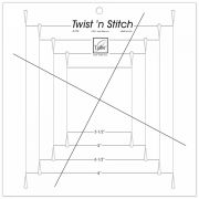 June Tailor Twist 'n Stitch Ruler by June Tailor - Quilt Blocks