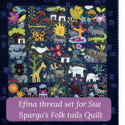Sue Spargo Efina Cotton Thread Set for Folk-Tails by Sue Spargo - Sue Spargo Efina 60wt Cotton