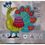Peacock Block Sue Spargo Pattern by Sue Spargo - Sue Spargo