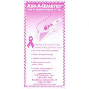 """Add a Quarter Ruler 6"""" Pink by CM Designs - Add A Quarter Rulers"""