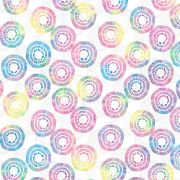 """White/Multi Circle Burst 108"""" Wide Back by Kimberbell - Wide Quilt Backs"""