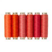 Sue Spargo Ellana Wool Thread Pack- Orange by Sue Spargo Ellana Wool - Sue Spargo Ellana 12wt Wool