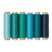 Sue Spargo Ellana Wool Thread Pack- Teal by Sue Spargo Ellana Wool - Sue Spargo Ellana 12wt Wool