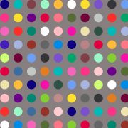 """Grey Multi Coloured Polka Dot 108""""Wide Back by Kimberbell - Wide Quilt Backs"""