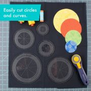 Creative Grids Quilt Ruler Circles (5 Discs with Grips) by Creative Grids - Circle Rulers