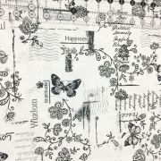 """White Happiness 108"""" Wide Back by Kimberbell - Wide Quilt Backs"""