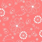 """Peachy Pink Doodles 108"""" Wide Back by Kimberbell by Kimberbell - Wide Quilt Backs"""