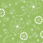 """Green Doodles 108"""" Wide Back by Kimberbell by Kimberbell - Wide Quilt Backs"""