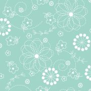 """Teal Doodles 108"""" Wide Back by Kimberbell by Kimberbell - Wide Quilt Backs"""