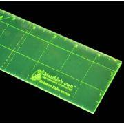 "Matildas Own Rainbow Ruler 2½"" x 10"" by Matilda's Own - Specialty Rulers"