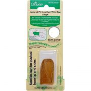 Clover Natural Fit Leather Thimbles Large by Clover - Thimbles