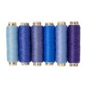 Sue Spargo Ellana Wool Thread Pack- Blue by Sue Spargo Ellana Wool - Sue Spargo Ellana 12wt Wool