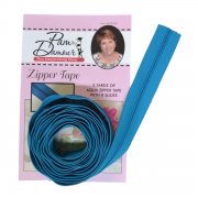 3 yards of Reversible Coil Zipper Tape with 8 Slides Aqua by Decorating Diva - Zipper By the Yard