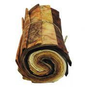 Hoffman 1895 Batiks 12 Fat Quarters Caramel & Coffee by Hoffman 1895 Watercolour Batik - Fat Quarter Packs