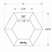"""OzQuilts 2 ½"""" Quilt-As-You-Go Hexagons by OzQuilts - OzQuilts Templates"""