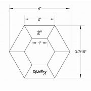 """OzQuilts 2"""" Quilt-As-You-Go Hexagons by OzQuilts - OzQuilts Templates"""