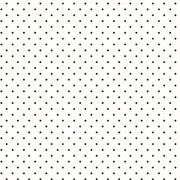 White With Black Classic Dot Cotton Fabric by Maywood Studio - Stripes & Spots