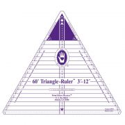 """Marti Michell 12"""" Tall 60 Degree Triangle Ruler by Marti Michell - Triangles 60 Degrees"""