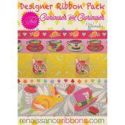 Tula Pink Curiouser & Curiouser Designer Ribbon Pack by Renaissance Ribbons - Ribbon