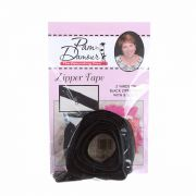 3 yards of Reversible Coil Zipper Tape with 8 Slides Black by Decorating Diva - Zipper By the Yard